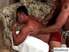 Two gay dudes have a lot of fun sucking gay porn