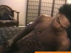 Black straight guy gets an interracial bj