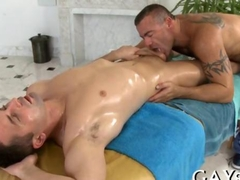 Masseur Sucking his thick cock before anal