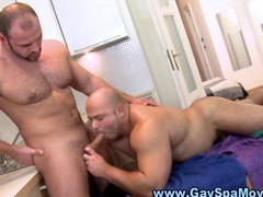 Chubby amateur rams masseur bear