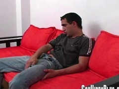 Horny guy in a hot masturbation solo scene
