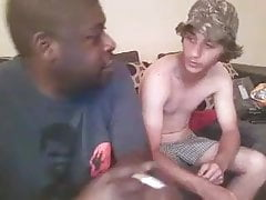 Cute Redneck getting service by his Black boyfriend