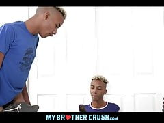 Black Twin Brother Watches Stepbrother Fuck His Real Twin