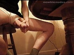 Hung Jerking Under Table